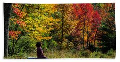 Autumn Leaves In The Catskill Mountains Hand Towel