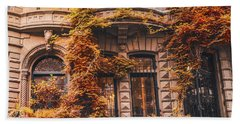 Autumn Leaves New York City Hand Towel