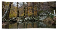Autumn On The Kings River Hand Towel