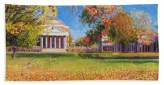 Autumn On The Lawn Hand Towel