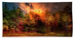 Autumn On The Tahquamenon River Hand Towel