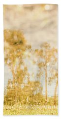 Autumn Puddles Hand Towel