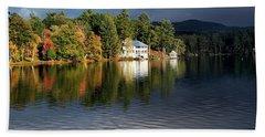 Autumn Reflection Lake Morey Vermont Bath Towel