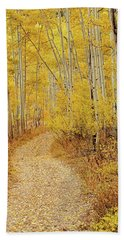 Autumn Road Hand Towel