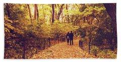 Autumn Romance - New York City Hand Towel