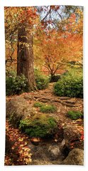 Autumn Stream In Lithia Park Hand Towel