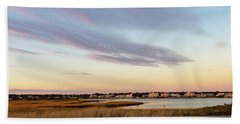 Autumn Sunset At West Dennis Beach Cape Cod Hand Towel
