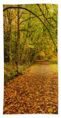 Autumn Walk Bath Towel