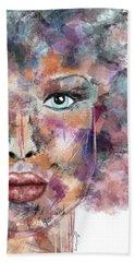 Autumn - Woman Abstract Art Hand Towel