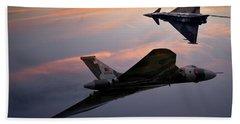 Avro Vulcan Xh558 And Eurofighter Typhoon Gina. Bath Towel