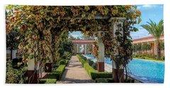 Awesome Getty Villa Landscape Walkway Pool California  Bath Towel