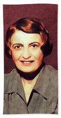 Ayn Rand, Literary Legend Bath Towel