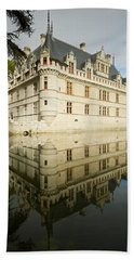 Bath Towel featuring the photograph Azay-le-rideau by Stephen Taylor