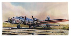 B-17g Sentimental Journey Hand Towel