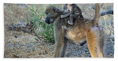 Baboon And Baby Hand Towel