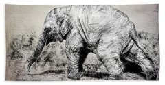 Baby Elephant Walk Bath Towel