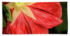 Back Of Red Flower Hand Towel