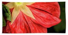 Back Of Red Flower Bath Towel
