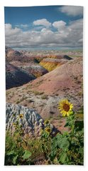 Badlands Sunflower - Vertical Bath Towel