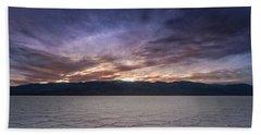 Badwater Basin Salt Flats Death Valley California Bath Towel