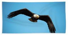Bald Eagle In Flight  Bath Towel
