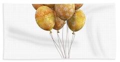 Balloons Golden Bath Towel