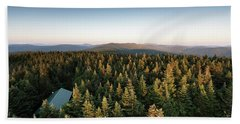 Balsam Lake Mountain Sunset Moon Hand Towel