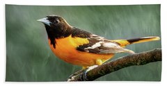 Hand Towel featuring the photograph Baltimore Oriole  by Allin Sorenson