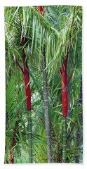 Bamboo And Palm Trees In A Forest Hand Towel