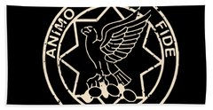 Band Of Brothers First Cavalry Regiment Animo Et Science Bath Towel