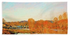 Banks Of The Seine Near Bougival - Digital Remastered Edition Bath Towel
