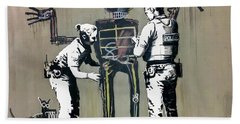 Banksy Coppers Pat Down Bath Towel