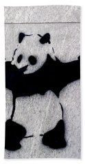 Banksy Panda Bath Towel