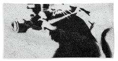 Banksy Rat With Camera Hand Towel