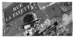 Banksy Rue La Lafayette Bath Towel