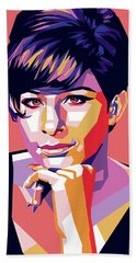 Barbra Streisand Pop Art Bath Towel