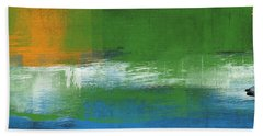 Barcelona- Abstract Art By Linda Woods Hand Towel