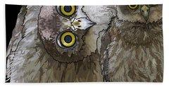 Barking Owls 2 Hand Towel