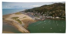 Barmouth Wales From The Air Hand Towel