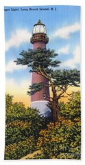 Barnegat Light - With Text Bath Towel
