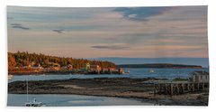 Bass Harbor Sunset Bath Towel