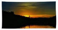 Bass Lake Sunrise Duck Hand Towel