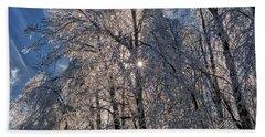 Bass Lake Trees Frozen Hand Towel