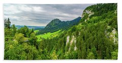 Bavarian Alps Panorama Bath Towel