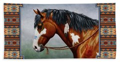Bay Native American War Horse Southwest Bath Towel