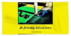 Hand Towel featuring the photograph Be Friendly But Not Tame by Judy Kennedy