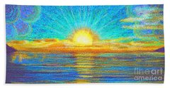 Hand Towel featuring the painting Beach 1 6 2019 by Hidden Mountain