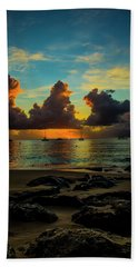 Beach At Sunset 2 Hand Towel