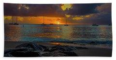 Beach At Sunset Hand Towel