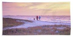 Sunrise Stroll On The Beach Bath Towel